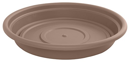 Bloem Dura Cotta Plant Saucer Tray, 12'', Chocolate (SDC12-45) by Bloem
