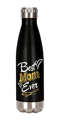 Mom Stainless Water Bottle - Spoontiques Best Mom Ever Stainless Steel Water Bottle, Black