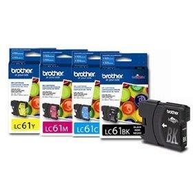 - Brother LC61 Cartridges 1 each BK/C/M/Y
