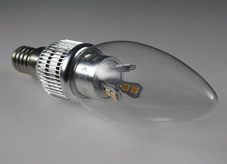 Led E14 Kerze Kronleuchter ~ Led kerze e14 in warmweiß 5w dimmbar klarglas: amazon.de: beleuchtung