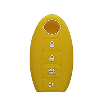 Rpkey Silicone Keyless Entry Remote Control Key Fob Cover Case protector Fit For 285E3-JA05A KR55WK48903(yellow): Automotive