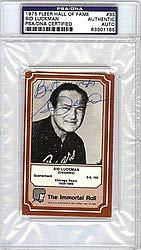 Sid Luckman Signed 1975 Fleer HOF Card  33 Chicago Bears Best Wishes - PSA  fa0c91dfb