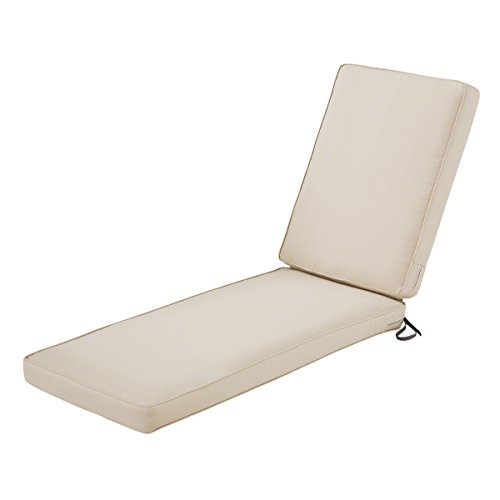 Classic Accessories Montlake Patio FadeSafe Chaise Lounge Cushion, Beige, 80