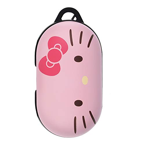 Sanrio Compatible with Galaxy Buds Case Compatible with Galaxy Buds Plus (Buds+) Case Protective Hard PC Shell Cover - Face Hello Kitty Pink