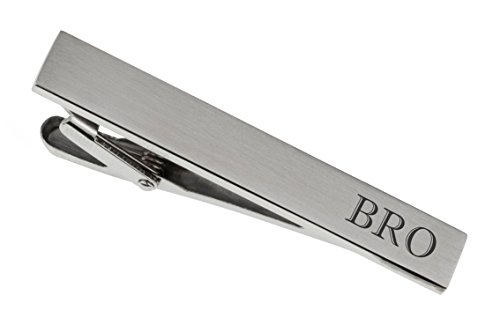 Personalized Brushed Silver Tie Clip Custom Engraved ()