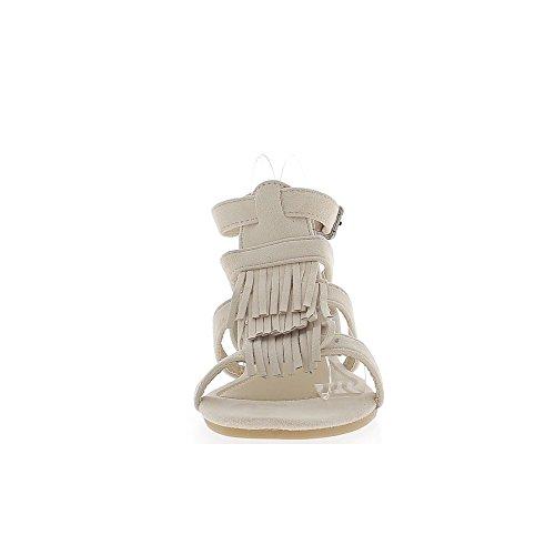 Sandalias y tacon franja cm 1 ante alto look beiges bridas gv8qxrwg