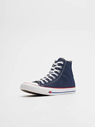 indigo Star All Chuck Converse Taylor Bleu blue Baskets Adulte Hautes Red Mixte 000 enamel wSpnR