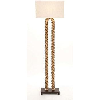 Rope Floor Lamp nautical lighting tall standing lamp with Shade