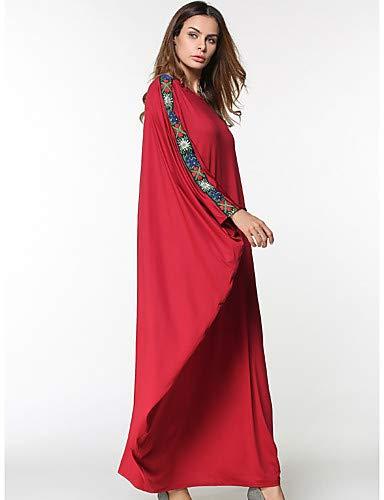 Las Color Única Sólido Oscilación Talla Rojo Red Mujeres Yfltz Maxi De Vestido qvxAnYtX