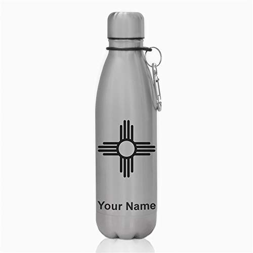 - Water Bottle, Flag of New Mexico, Personalized Engraving Included