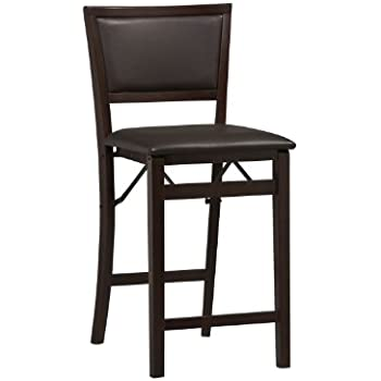 Amazon Com Linon Keira Pad Back Folding Bar Stool