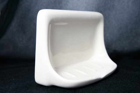 4''X6'' White Ceramic Soap Dish by TSTS