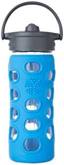 Lifefactory Botella de Cristal, Straw Cap, Vidrio, Azul (Ocean ...