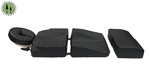 Pregnancy Pillow Maternity Cushion Bolster Set Black w/ Carrying Case DevLon NorthWest