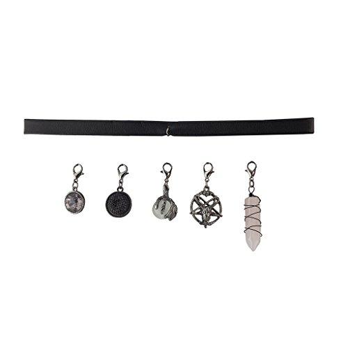 Lux Accessories Black Velvet Choker Necklace Interchangeable Burnished -