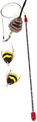 CoolCyberCats Go Cat Da Bee Teaser Wand from The Maker of Da Bird and Cat Catcher