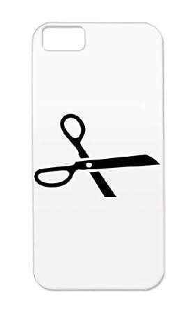 Cut Symbols Scissor Here Shapes Symbol Tpu Black Case For Iphone 5c