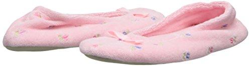 Isotoner ISOTONER95004 Terry Damen Blumen Ballerina Petal Stickerei Pink 8Ud8Wr7nAR