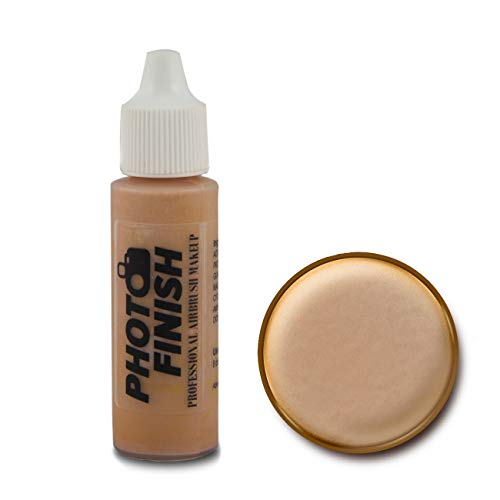 Photo Finish Professional Airbrush Makeup Foundation, airbrush makeup, water and sweat resistant, long-wearing, works with airbrush makeup kits (.5 fl oz, Fairly Medium Matte)