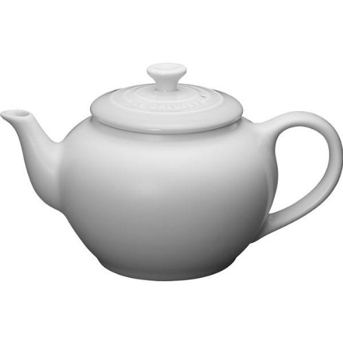 Le Creuset Stoneware 22-Ounce Teapot with Infuser, White