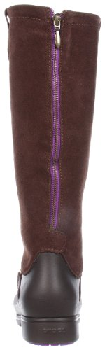 Crocs Equestrian Suede Tall Boot, Women's Boots Espresso/Espresso