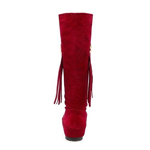 No Polartec Fleece Womens Closure Comfort Red BalaMasa Solid Boots wqY5fzX