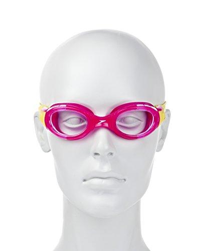 Speedo Junior Futura Biofuse Lunettes de natation–Verres transparents–Rose