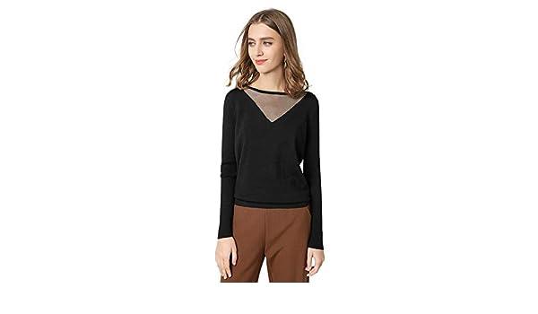 Latika fashion Women Gold-Silver Thread Patchwork Crewneck Leisure Basic Pullover Sweater