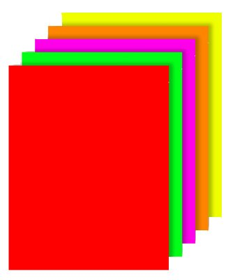 Royal Brites Poster Board Fluorescent Neon Variety Pack, 2 Cool, 22 x 28 Inches, 40-Sheet Case (27043)