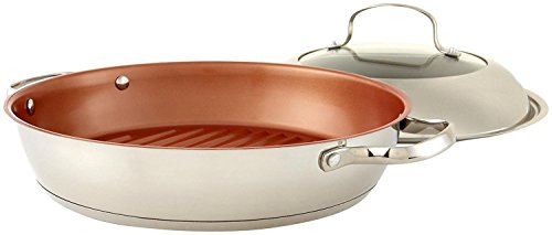 NuWave 31125-Inch Stainless Steel Grill Pan with Lid, 11