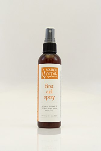 Oil Burn First Aid (First Aid Spray - 100% Natural with Pure Essential Oils, Aloe Vera and Seaweed extracts By Source Vitál Apothecary (4.46 Fl. Oz.))