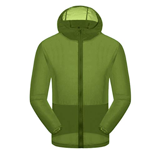 - TnaIolral Women Men Windproof Top Summer Outdoor Bicycle Sports Quick Dry Windbreaker Coat Jacket (Army Green, S)
