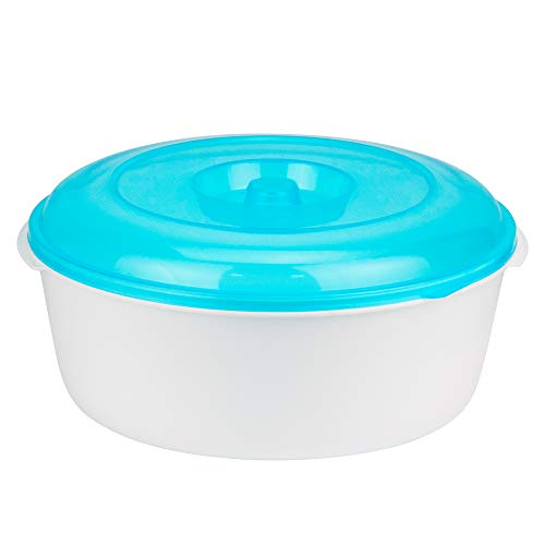 DecorRack Extra Large Food Storage Container with Lid, 7.4 Quarts, BPA Free- Plastic, Shatterproof, Reusable Mixing Bowl, Dry Food Container, Snack Bowl, Store Leftovers, Random Colors (1 Pack)