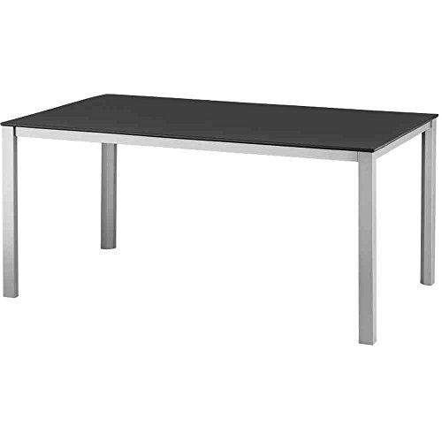 Lofttisch 160 x 95 cm, silber/ grau Aluminiumgestell silber, Kettalux®-Tischplatte grau