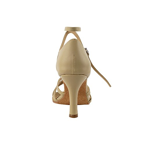Dance Wedding Salsa Pigeon High Gold Tango Ballroom Latin Comfort Latin Swing Shoes SERA1700 Evening Tango Party Swing Shoes Heel Women Party Beige Medium Shoes Pump Brown Salsa 1606 Dress Leather AqZnUOqzwx