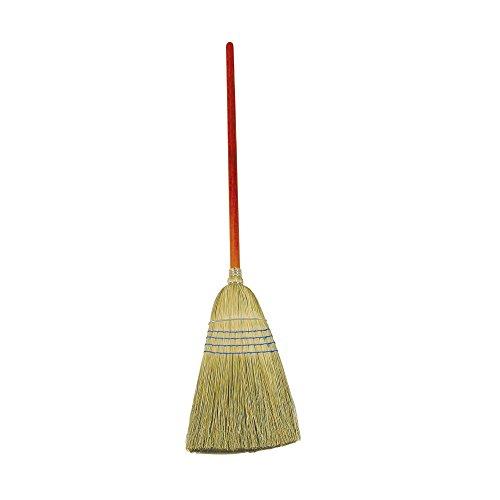 Corn Household Broom - Rubbermaid Commercial Warehouse Heavy-Duty Corn Broom, 1 1/8 Inch Wood Handle, Blue (FG638300BLUE) (12-Pack)