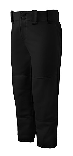 Mizuno Adult Women's Belted Low Rise Fastpitch Softball Pant, Black, Small -