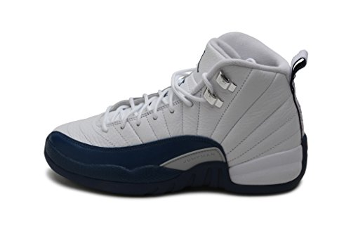 Jordan Kids Retro 12 WHITE/METALLIC SILVER/VARSITY RED/FRENCH BLUE 153265-113 Nike