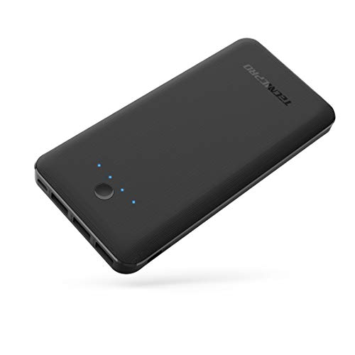 TECNICPRO Portable Charger P26 26800mAh External Battery 5.8A Output 3-Port Power Bank Dual Input (Micro and USB C) for iPhone, iPad Samsung Galaxy, Android Smart Devices and More (Black)