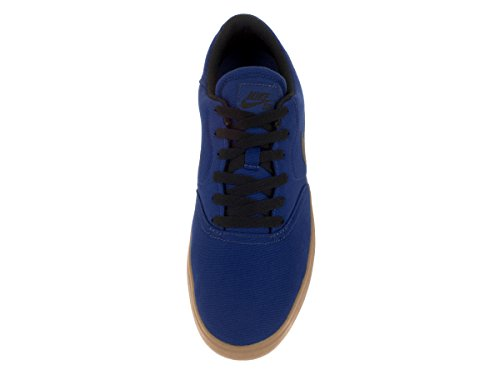 Nike SB CHECK Canvas Herren Skateboardschuhe Tiefes Königsblau Schwarz 402