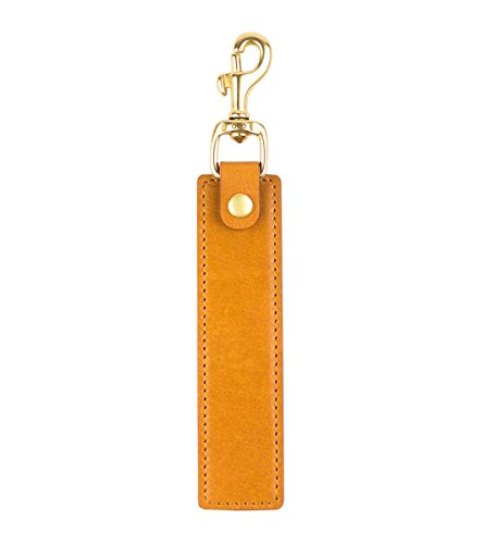 (alto Handmade Premium Italian Leather Keychain Stand Cable Straps (Light Brown))