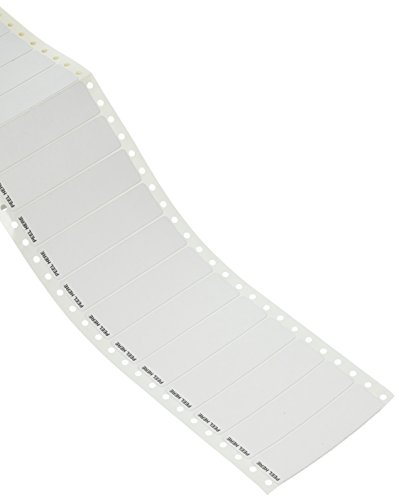 Compulabel Pinfeed Labels Fanfold Permanent Adhesive, 3 1/2