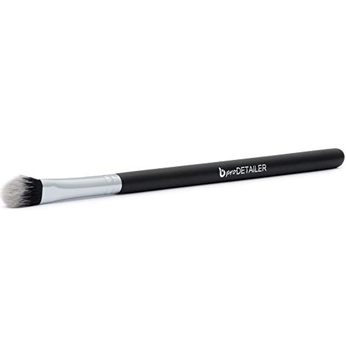 pro Detailer Makeup Brush for Precision Contouring the Nose, Lips and Eyes; Works with Creams, Powders and Minerals; Professional Quality