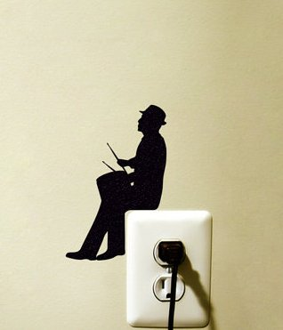 X2 Drummer Light Switch Sticker- Drum Player Wall Sticker - Music Wall (6 Position Airpot)