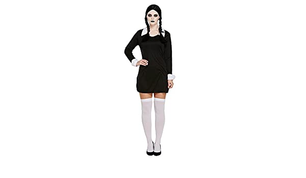 Miércoles miedo COLEGIALA Infantil Disfraz Halloween - S: Amazon ...