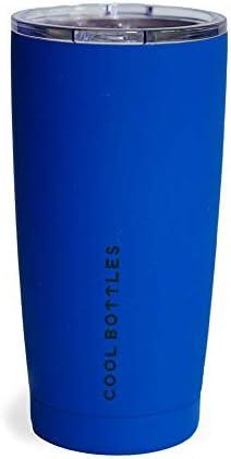 Cool Bottles Vaso Térmico de Acero Inoxidable   550 ml   Vaso Térmico   Termo Café para Llevar   Vaso con Tapa para Bebidas frías o Calientes   Vaso térmico café   Libre de BPA