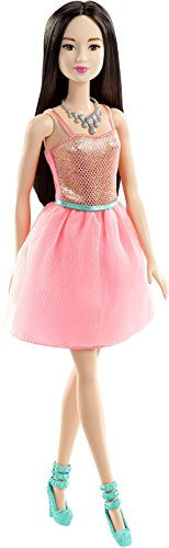 Asian Fashion Dolls - Barbie Glitz Doll, Coral Dress