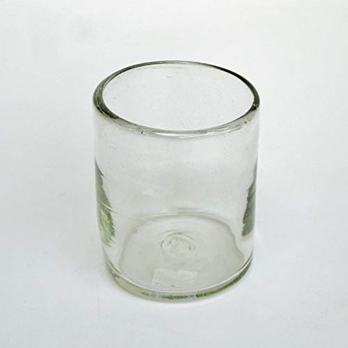 Mexican Blown Glass Tumblers Clear (Set of 6)