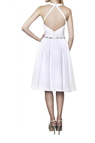 Toscana sposa alla moda Rueckenfrei sogno stanotte vestimento Kurz Chiffon sposa Cocktail Party Ball un'altezza tempo vestimento