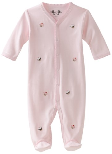 Margery Ellen Baby-Girls Newborn Embroiderd Long Sleeve Footie